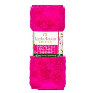 locker rug fuzzy pink