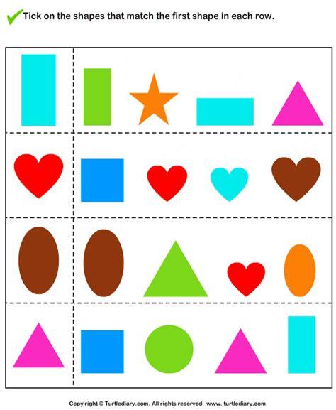 Shape Pattern Matching | pre school worksheets 187 pattern matching worksheets free