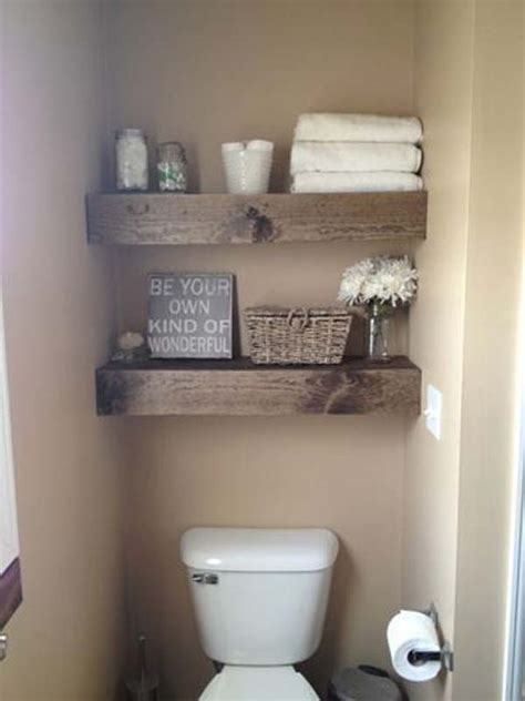 Floating Shelves In Bathroom 47 Creative Storage Idea For A Small Bathroom Organization Shelterness
