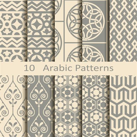 islamic style seamless pattern vector free download vector arabic style seamless patterns 02 vector pattern