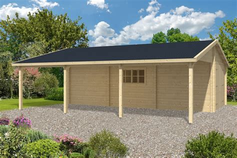Carport Plans Ideas Log Garage With Carport Berggren