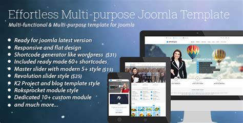 Template Joomla Effortless | effortless multi purpose joomla template jogjafile