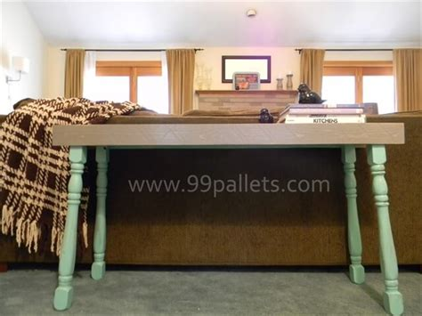 sofa table made from pallets diy pallet sofa table tutorial 99 pallets