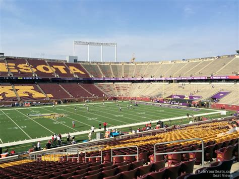 bank sections tcf bank stadium section 142 rateyourseats com