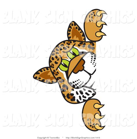 jaguar clipart vector illustration of a cheetah jaguar or leopard looking
