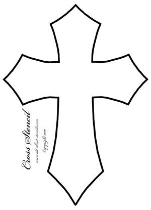 Cross Stencil Designs And Free Stencils Crosswalk Paint Template