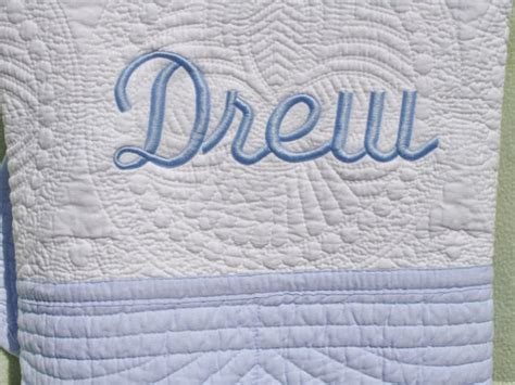Monogrammed Baby Quilts by Personalized Baby Quilt Monogrammed Embroidered Baby