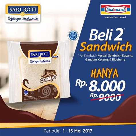 sandwich cokelat sari roti foto herry tjiang