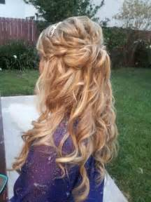 half up half down curly hairstyles with braids love this half up half down loose curls some kind of