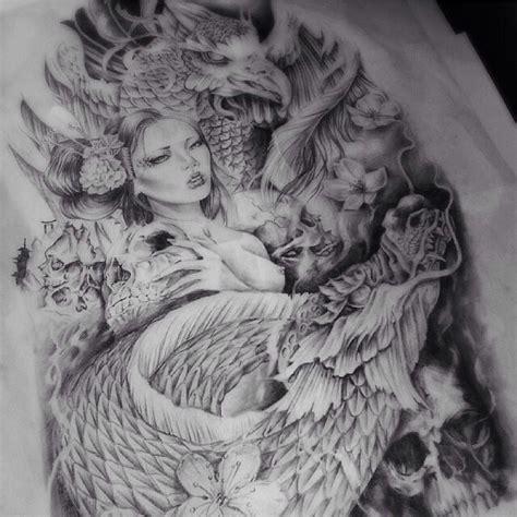dragon tattoo geisha costume phoenix geisha dragon tattoo design tattoos pinterest