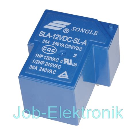 Relay Sla 12vdc Sl A By Bietronik leistungs print relais 12v 1xein 30a 250v songle sla