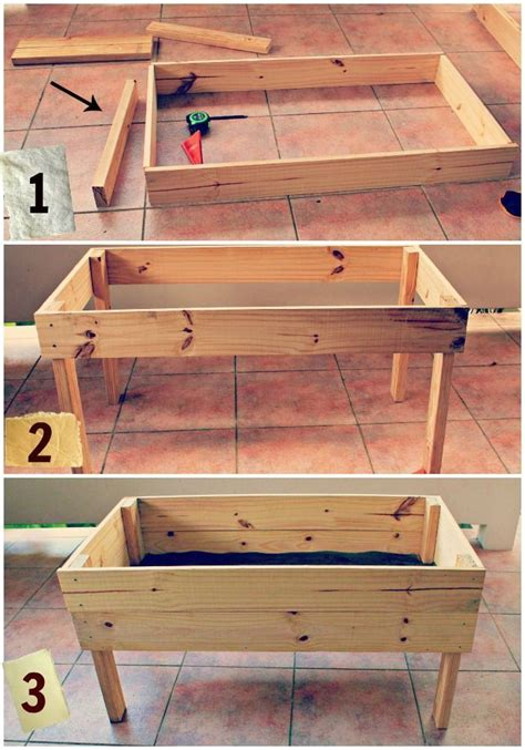 raised garden table plans  raised garden bed