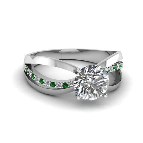 semi split ring fascinating diamonds