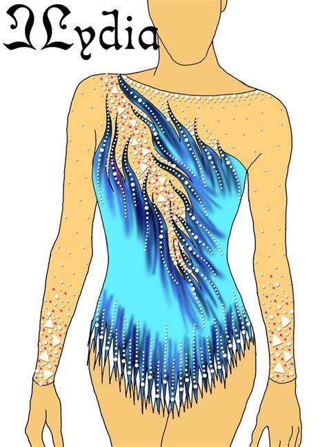 design competition leotards competition rhythmic gymnastic leotard design kaat blue