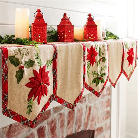 pattern for christmas mantel scarf 1047 best images about christmas runners on pinterest