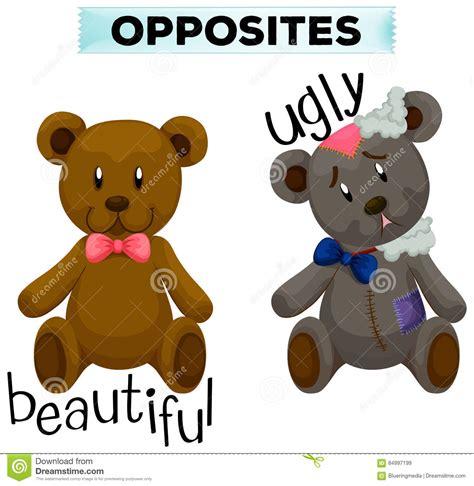 imagenes de ugly love wordcard opuesto con hermoso y feo ilustraci 243 n del vector