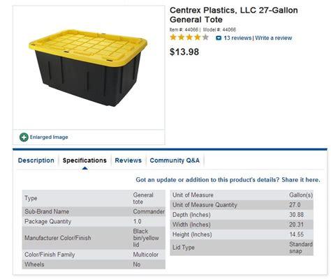 Hans Grohe Kitchen Faucet centrex plastics 27 gallon construction grade tote