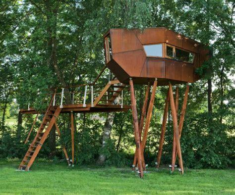 treehouse bachstelze austria architecture wallpaper