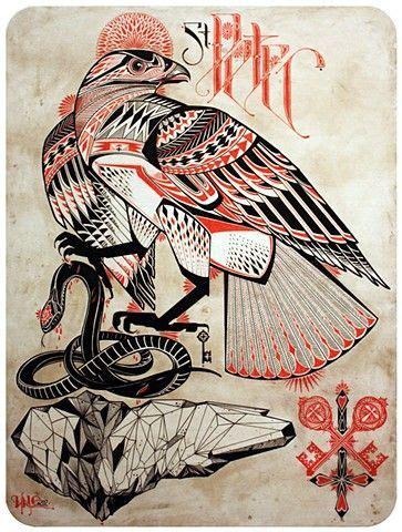 geometric tattoo hawk pinterest the world s catalog of ideas