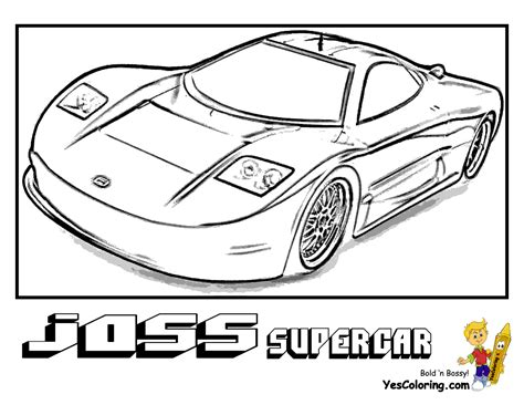 coloring pictures of supercars powerful car printables free kids printables sposrts