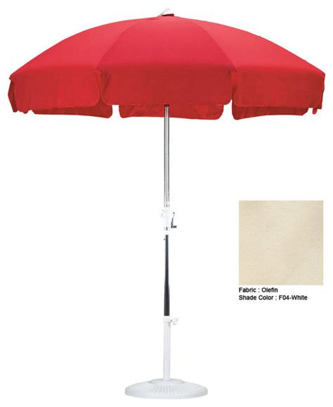 Modern Patio Umbrellas California Umbrella 7 5 Patio Umbrella With Push Button Tilt Modern Outdoor Umbrellas