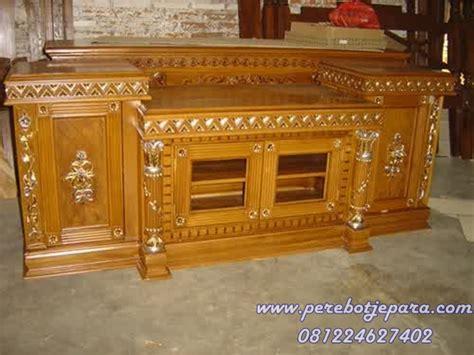 Meja Tv Yg Murah jual meja tv ukir murah model terbaru kayu jati perabot jepara perabot jati toko perabot