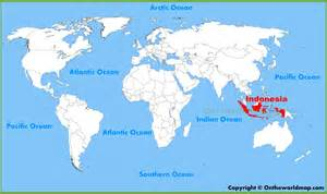 Indonesia Map World by Indonesia Location On The World Map