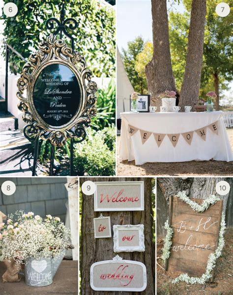 Eye Decorations Wedding Inspiration 10 Creative Welcome Signs Julep