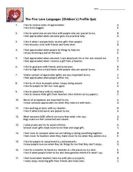 printable relationship quizzes for couples to take together 5 love languages free download the five love languages