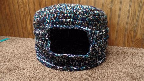 pattern for yarn cat crochet scrap yarn cat house cat bed tutorial crafting