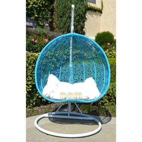 wicker hammock swing chair 2 persons seater bird egg nest wicker rattan swing lounge
