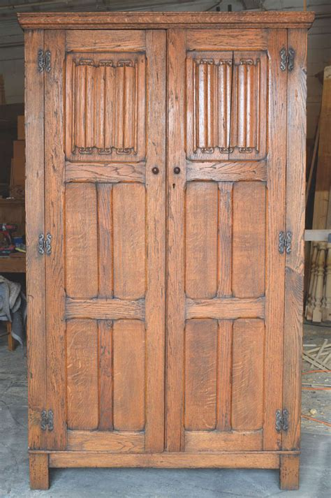 arts and crafts armoire arts and crafts armoire in oak at 1stdibs