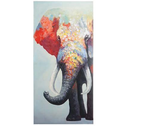 cuadros elefantes cuadro elefante 140x70x3 5 cm pintado a mano al 243 leo