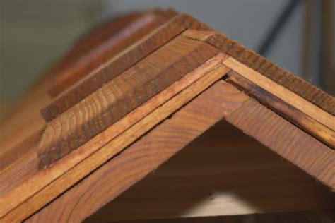 cutting cedar shingles to roof angle timber frame porch ridge cap 1910 craftsman