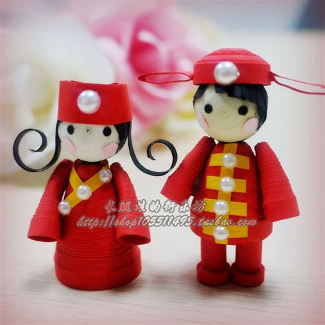 quilling design doll quilled chinese wedding dolls quilling pinterest