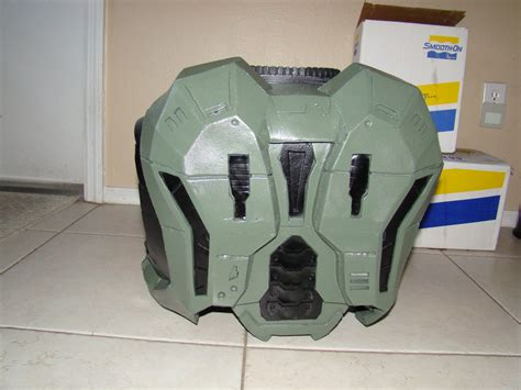 Halo Reach Foam Build Armor Back View By Hyperballistik On Deviantart Halo Foam Templates