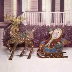 santa sleigh yard decoration outdoor yard decorations santa sleigh light