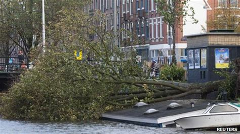 sinking houseboat amsterdam storm lashes northern europe leaving at least 13 dead