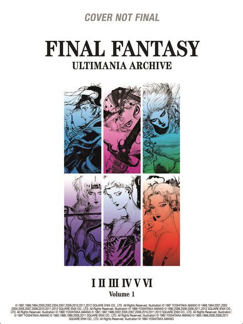 libro final fantasy ultimania archive final fantasy ultimania llega a occidente de la mano de dark horse