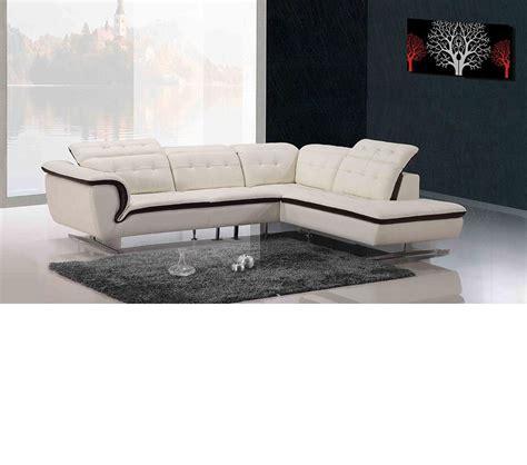 modern leather sofa sectional dreamfurniture com 968b modern leather sectional sofa