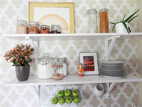 open shelving in a bright kitchen decoist delicious design more ideas for decorating with fruit themes