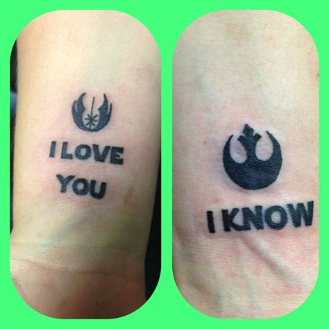 star wars couple tattoos inspired by wars tattoos