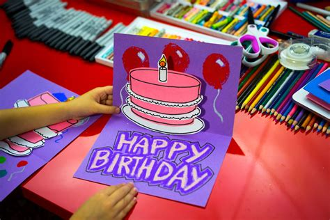 How To Make A Paper Birthday Card - how to make a pop up birthday card for hub