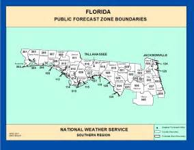 maps northern florida zone forecast boundaries