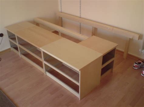 ikea bed storage hack malmus maximus hacking malms and lerb 196 ck into storage bed