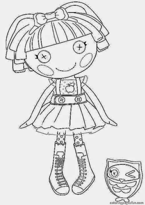 lalaloopsy coloring pages free coloring sheet