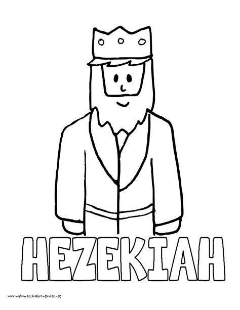 king hezekiah crafts for kids