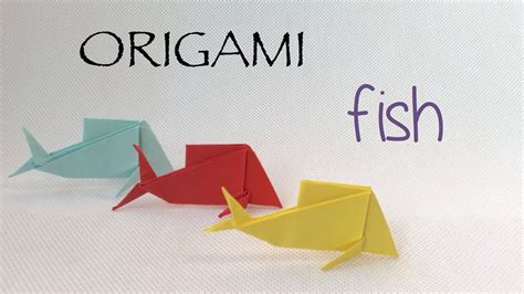 Make A Paper Fish - how to make a paper fish easy origami