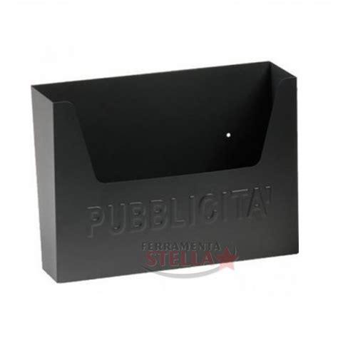 cassetta porta pubblicita nera condominio posta postale