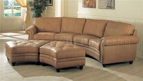 camel couch camel leather upholstery sectional sofa w nail head design
